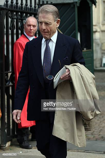 Edward Fox attends a Memorial Service for Sir Richard Attenborough at Westminster Abbey on March 17 2015 in London England
