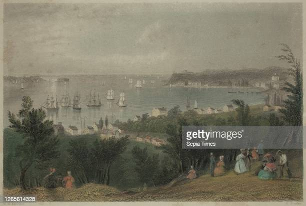 Edward Francis Finden. English. 1791-1857. After William Henry Bartlett. English. 1809-1854. The Narrows from Staten Island. Between 1800 and 1857....