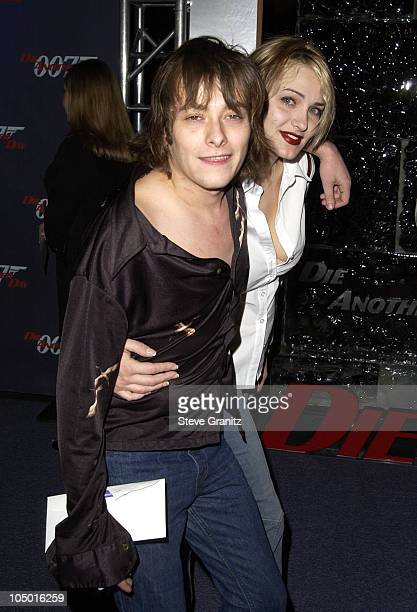 Edward Furlong and Liz Levy during Die Another Day Los Angeles Premiere at Shrine Auditorium in Los Angeles California United States