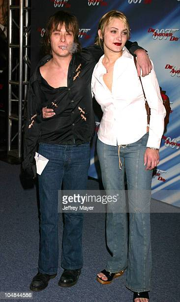 Edward Furlong Liz Levy during Die Another Day Los Angeles Premiere at Shrine Auditorium in Los Angeles California United States