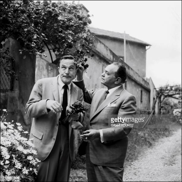 Edward G Robinson and Gene Kelly in Cannes