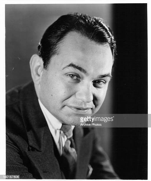 Edward G Robinson in publicity portrait for the film 'I Am the Law' 1938