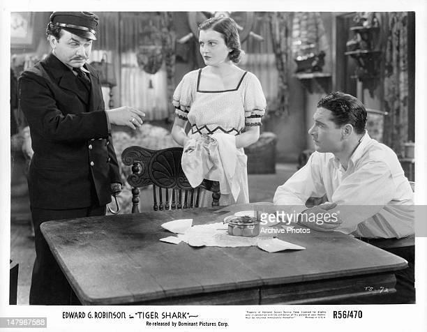 Edward G Robinson Zita Johann Richard Arlen in a scene from the film 'Tiger Shark' 1932