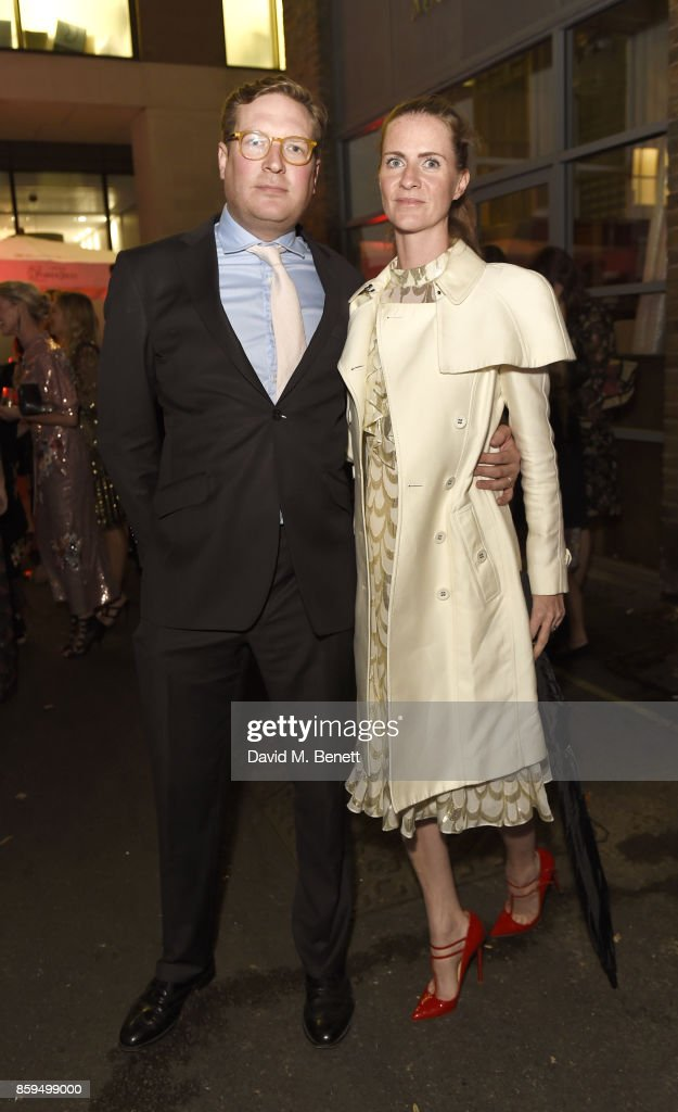 Edward Grant (L) and Chloe Delevingne attend the Conde Nast Traveller 20th anniversary party at Vogue House on October 9, 2017 in London, England.