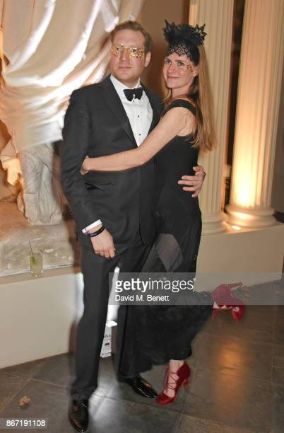 Edward Grant and Chloe Delevingne attend Unicef's Halloween at Aynhoe Park on October 27 2017 in Banbury England Unicef's Halloween at Aynhoe is...