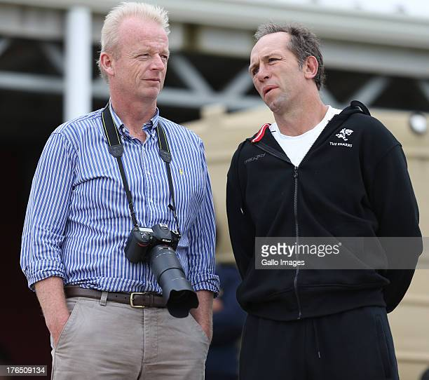 Edward Griffiths CEO with Brendan Venter Technical Director during an Exhibition match between College Rovers and Saracens at John Smit Field...