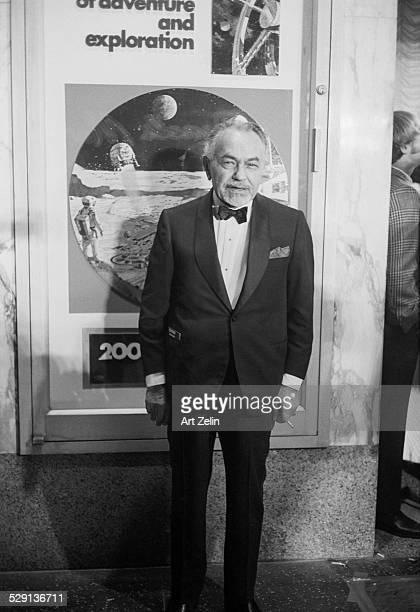 Edward GRobinson in a tux outside a theater circa 1970 New York