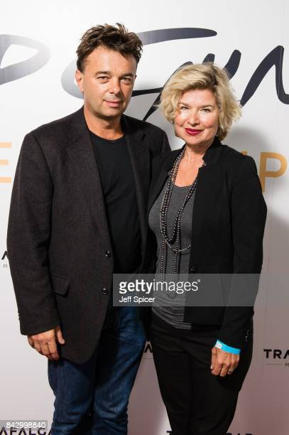 Edward Hall and Issy Van Randwyck arrive for the David Gilmour 'Live At Pompeii' premiere screening at Vue West End on September 5 2017 in London...