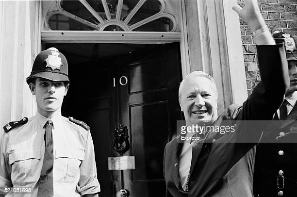 Edward Heath outside 10 Downing Street in London as the new Prime Minister of the United Kingdom June 1970