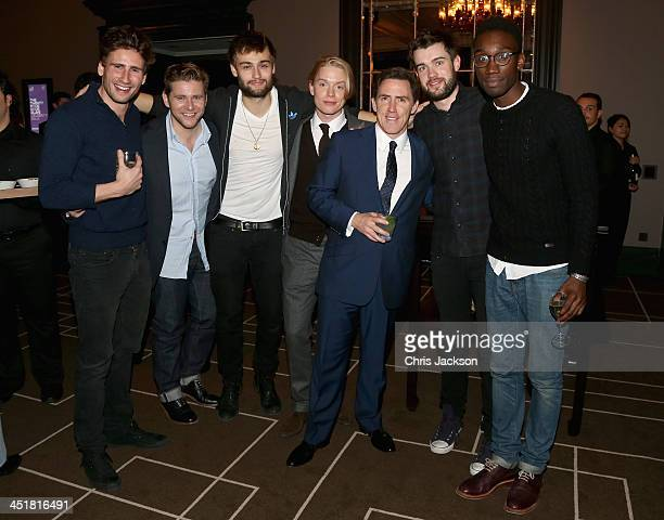 Edward Holcroft Allen Leech Douglas Booth Freddie Fox Rob Brydon Jack Whitehall and Nathan Stewart Jarrett attend the post show party The 25th Hour...