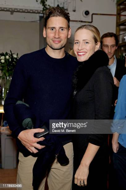 Edward Holcroft and guest attend the launch of Wild By Tart restaurant on October 29, 2019 in London, England.