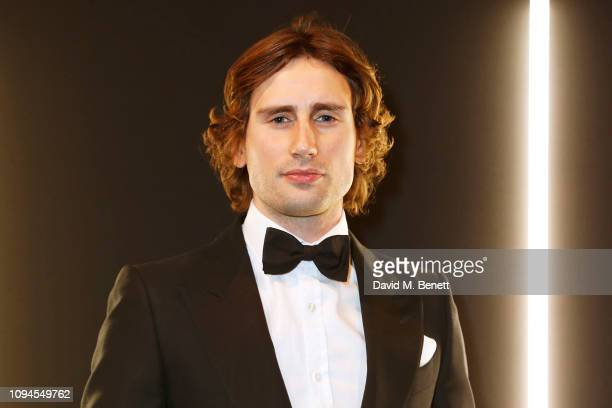 Edward Holcroft attends the dunhill Pre-BAFTA dinner at dunhill Bourdon House on February 6, 2019 in London, England.