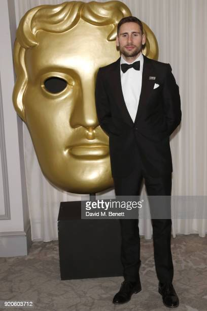 Edward Holcroft attends the EE British Academy Film Awards gala dinner held at Grosvenor House, on February 18, 2018 in London, England.