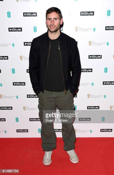 Edward Holcroft attends the EE InStyle Party held at Granary Square Brasserie on February 6, 2018 in London, England.