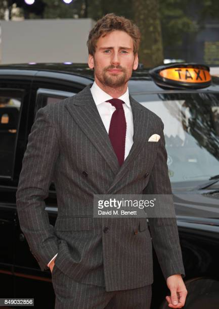 """Edward Holcroft attends the World Premiere of """"Kingsman: The Golden Circle"""" at Odeon Leicester Square on September 18, 2017 in London, England."""