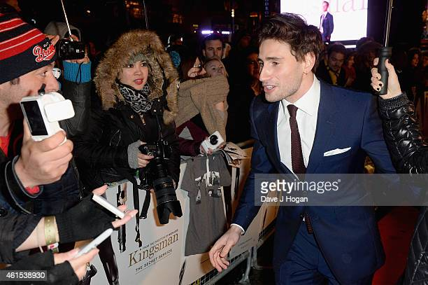 Edward Holcroft attends the World Premiere of 'Kingsman The Secret Service' at the Odeon Leicester Square on January 14 2015 in London England