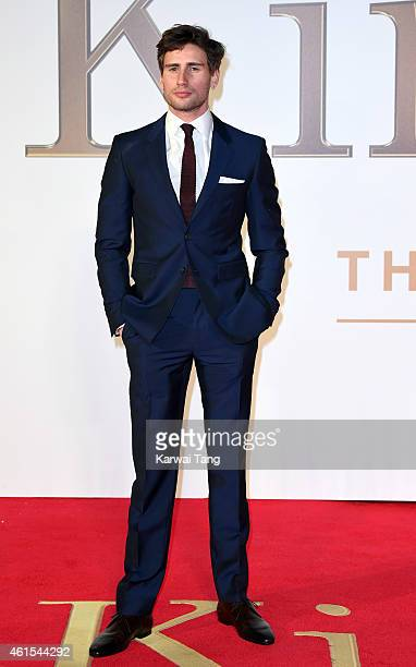 Edward Holcroft attends the World Premiere of 'Kingsman The Secret Service' at Odeon Leicester Square on January 14 2015 in London England