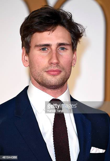 """Edward Holcroft attends the World Premiere of """"Kingsman: The Secret Service"""" at Odeon Leicester Square on January 14, 2015 in London, England."""