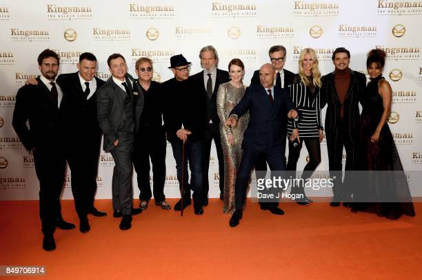 Edward Holcroft Channing Tatum Taron Egerton Elton John Matthew Vaughn Jeff Bridges Julianne Moore Mark Strong Colin Firth Claudia Schiffer Pedro...