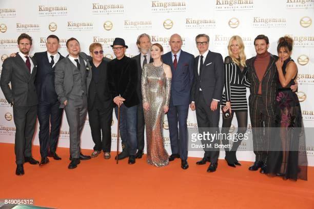 Edward Holcroft, Channing Tatum, Taron Egerton, Sir Elton John, director Matthew Vaughn, Jeff Bridges, Julianne Moore, Mark Strong, Colin Firth,...