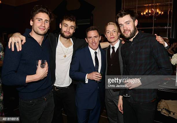 Edward Holcroft Douglas Booth Rob Brydon Freddie Fox and Jack Whitehall attend the post show party The 25th Hour following The Old Vic's 24 Hour...