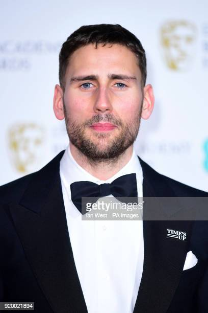 Edward Holcroft in the press room at the EE British Academy Film Awards held at the Royal Albert Hall Kensington Gore Kensington London