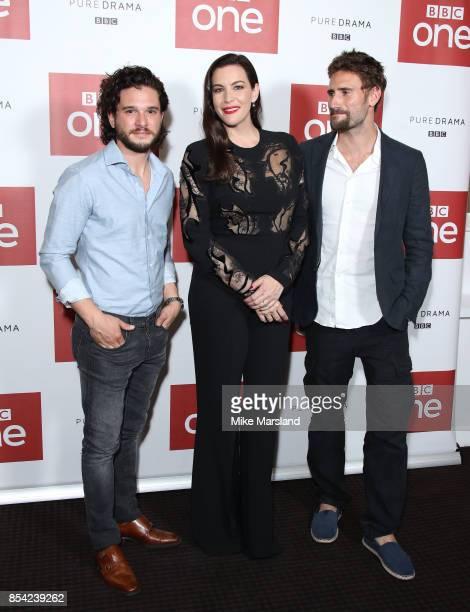 Edward Holcroft Liv Tyler and Kit Harington attend the 'Gunpowder' preview screening at BAFTA on September 26 2017 in London England