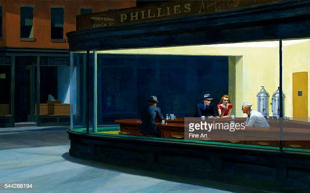 Edward Hopper Nighthawks oil on canvas 841 x 1524 cm Art Institute of Chicago