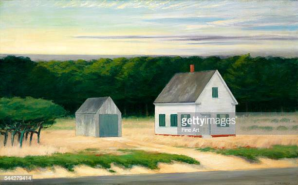 Edward Hopper October on Cape Cod oil on canvas 263 x 422 in private collection