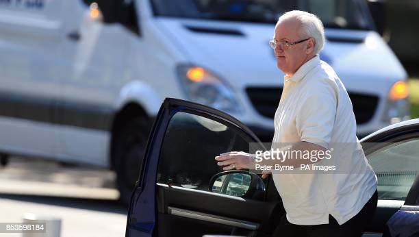 Edward Huxley of Cookham Berkshire arrives at Mold Magistrates Court Flintshire North Wales where he appeared accused of sex offences after an...