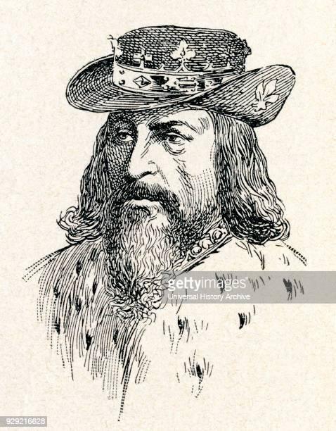 Edward III 1312 – 1377 King of England From Enciclopedia Ilustrada Segui published c 1900