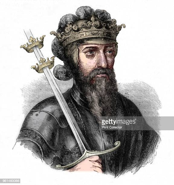 Edward III' circa 1880 Edward III King of England From British Battles on Land and Sea Vol III by James Grant [Cassell Petter Galpin London Paris New...