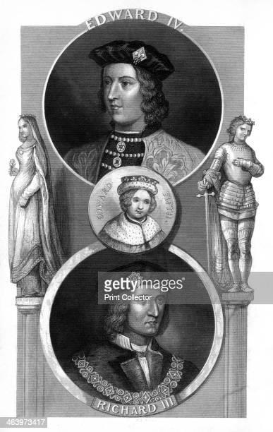 Edward IV Edward V and Richard III of England Triple portrait of three English kings Edward IV his son Edward V and Richard III Edward IV's brother...