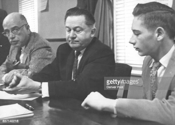 Edward J Traynor sits at defense table in District Court at Georgetown with his attorneys Clem Hackethal and William McNeill Credit Denver Post