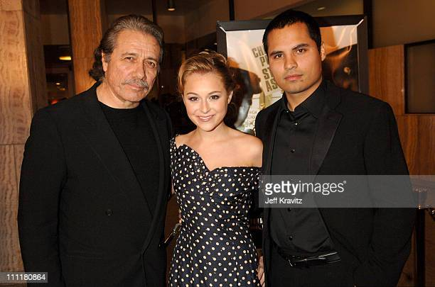 Edward James Olmos Alexa Vega and Michael Pena during HBO Films Walkout Premiere Red Carpet and After Party at Cinerama Dome in Hollywood California...