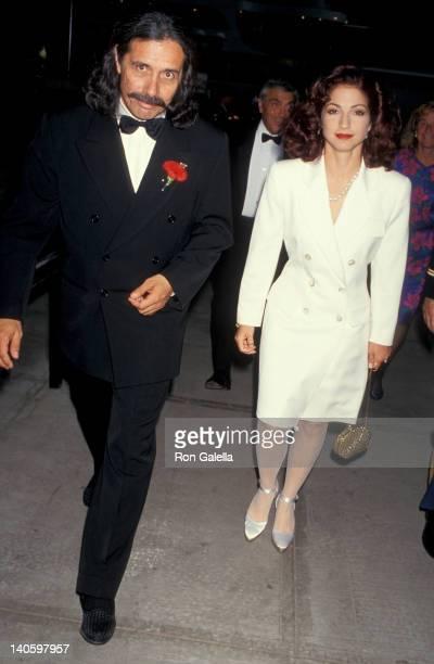 Edward James Olmos and Gloria Estefan at the 1993 Ellis Island Medals of Honor Ceremony Ellis Island New York City