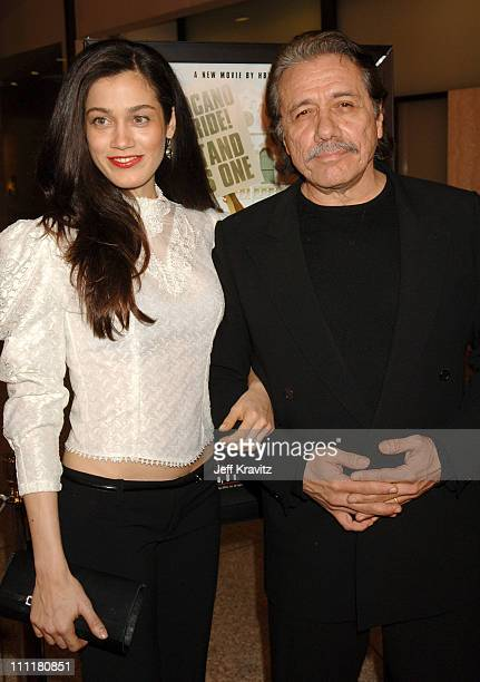 Edward James Olmos and guest during HBO Films Walkout Premiere Red Carpet and After Party at Cinerama Dome in Hollywood California United States