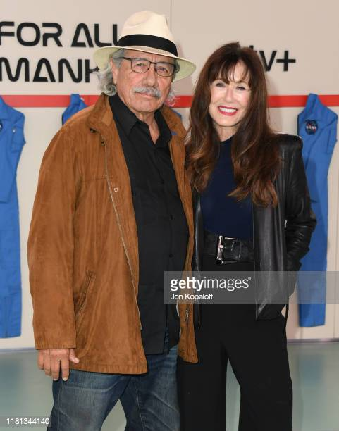 """Edward James Olmos and Mary McDonnell attend the World Premiere Of Apple TV+'s """"For All Mankind"""" at Regency Village Theatre on October 15, 2019 in..."""