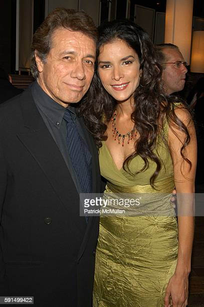 Edward James Olmos and Patricia Velasquez attend Wayuu Taya Foundation Dinner at Tribeca Grand Hotel NYC USA on June 20 2005