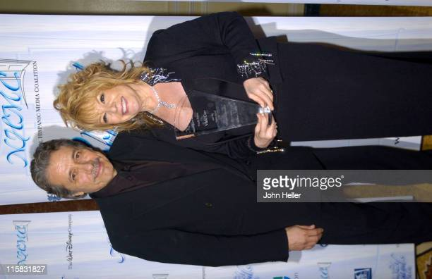Edward James Olmos and Vikki Carr winnier of the NHMC Liftetime Achievement Award
