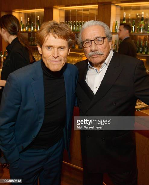 Edward James Olmos and Willem Dafoe attend The Hollywood Reporter's 7th Annual Nominees Night presented by MercedesBenz Century Plaza Residences and...