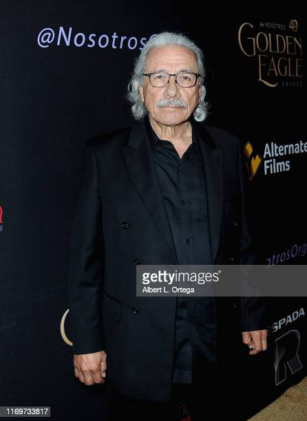 Edward James Olmos arrives for the 2019 Nosotros Golden Eagle Awards held at The Ricardo Montalban Theatre on September 19 2019 in Hollywood...