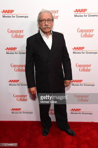 Edward James Olmos attends AARP The Magazine's 18th Annual Movies for Grownups Awards at the Beverly Wilshire Four Seasons Hotel on February 04 2019...