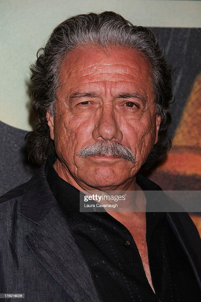 Edward James Olmos attends the '2 Guns' premiere at SVA Theater on July 29, 2013 in New York City.