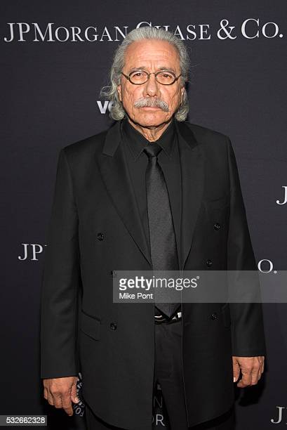 Edward James Olmos attends the 2016 Paley Center for Media's Tribute To Hispanic Achievements In Television at Cipriani Wall Street on May 18 2016 in...