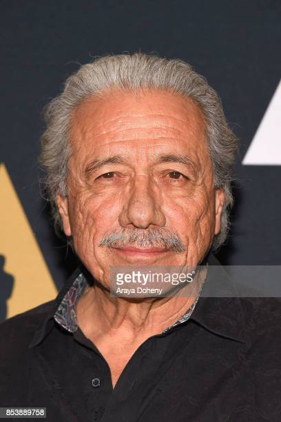 """Edward James Olmos attends the Academy Museum of Motion Pictures Screens """"Zoot Suit"""" at AMPAS Samuel Goldwyn Theater on September 25, 2017 in Beverly..."""