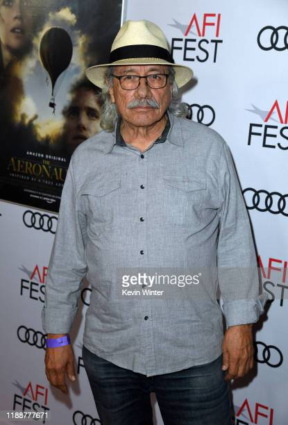 """Edward James Olmos attends """"The Aeronauts"""" premiere during AFI FEST 2019 presented by Audi at TCL Chinese Theatre on November 19, 2019 in Hollywood,..."""