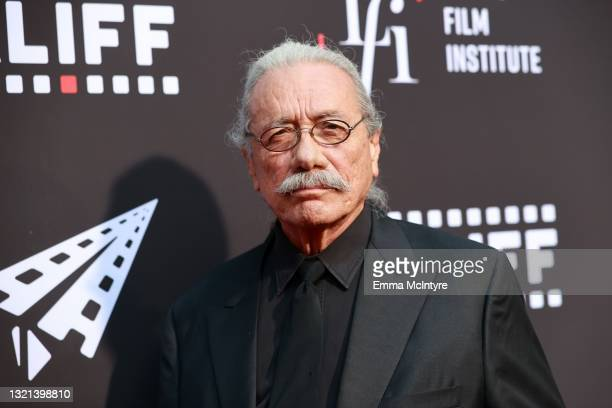 """Edward James Olmos attends the opening night premiere of """"7th & Union"""" during the 2021 Los Angeles Latino International Film Festival at TCL Chinese..."""