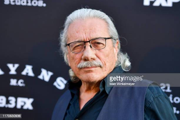 Edward James Olmos attends the premiere of FX's Mayans MC Season 2 at ArcLight Cinerama Dome on August 27 2019 in Hollywood California