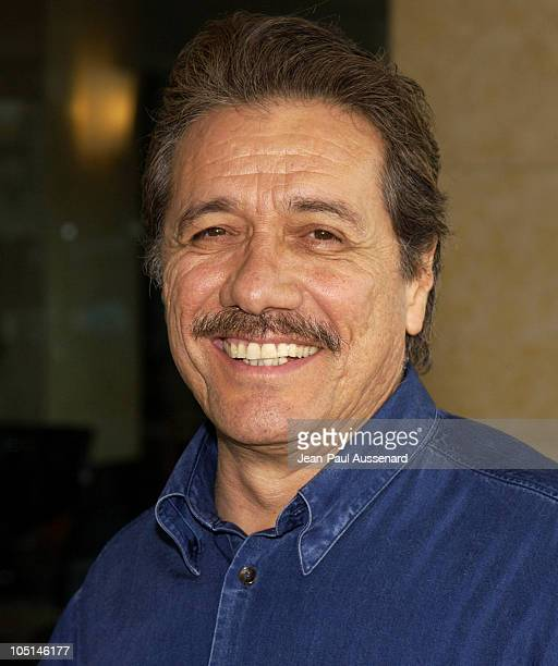 Edward James Olmos during Television Critics Association UPN Day Arrivals at Renissance Hotel in Hollywood California United States